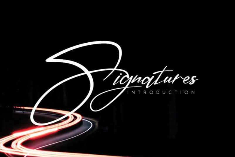 Signatures Handwritten Font