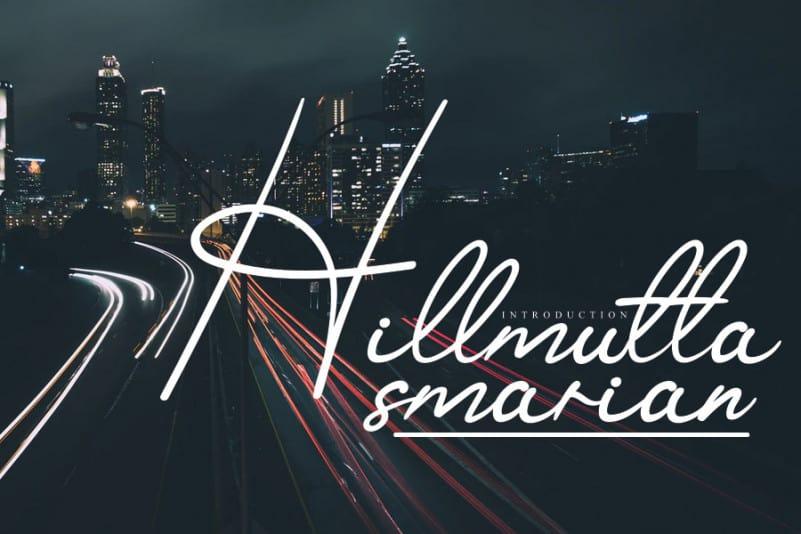 Hillmutta Handwritten Font