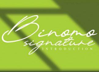 Binomo Handwritten Font