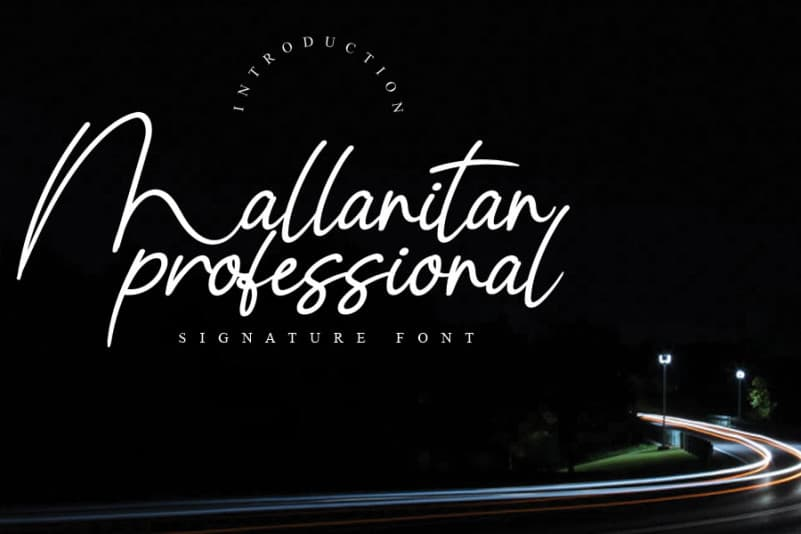 Mallanitan Handwritten Font
