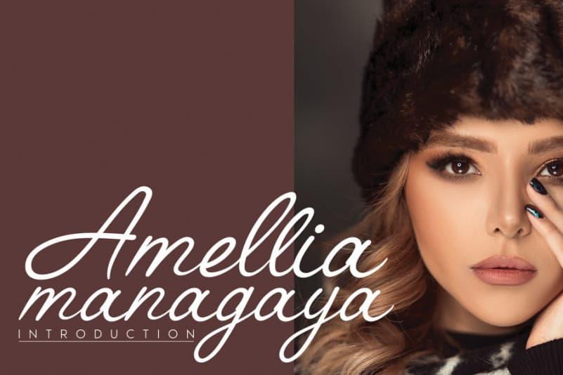 Amellia Handwritten Font