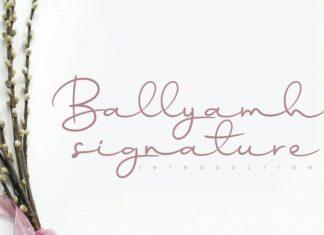Ballyamh Handwritten Font