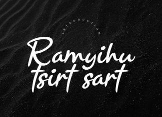 Ramyihu Handwritten Font