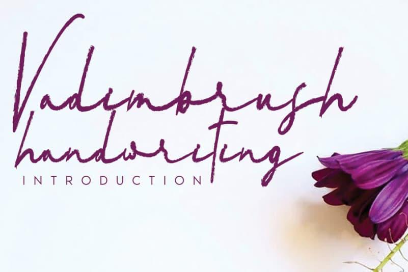 Vadimbrush Brush Font