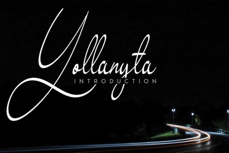 Yollanyta Handwritten Font