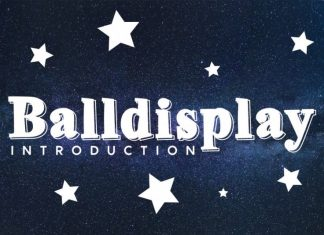Balldisplay Display Font