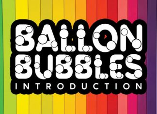 Ballon Bubbles Display Font