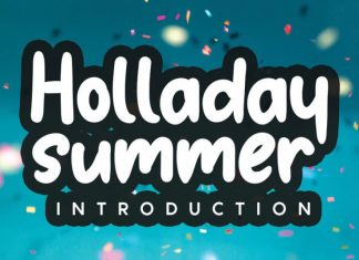 Holladay Display Font