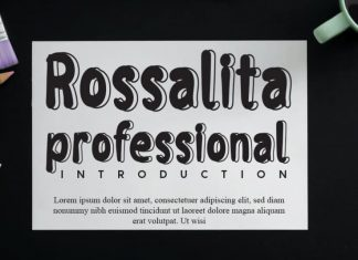 Rossalita Display Font