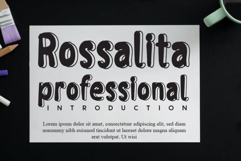 Rossalita Display Font