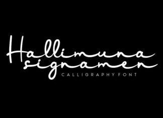 Hallimuna Handwritten Font