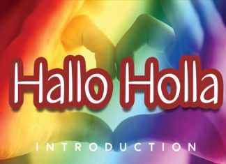 Hallo Holla Handwritten Font
