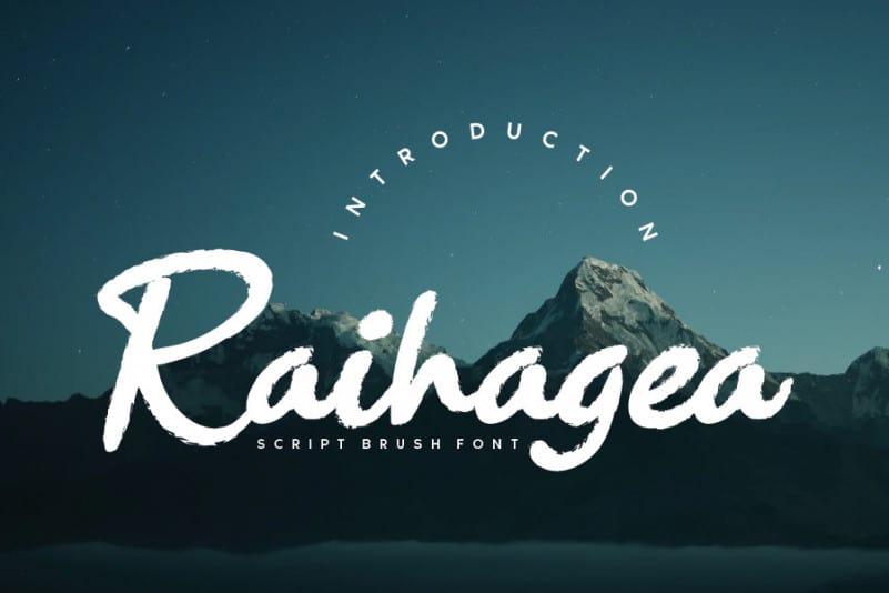 Raihagea Brush Font