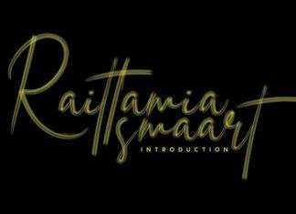 Raittamia Brush Font