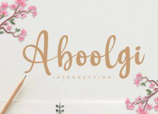 Aboolgi Handwritten Font