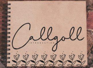 Callgoll Handwritten Font