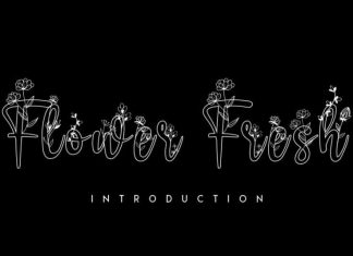 Flower Fresh Display Font