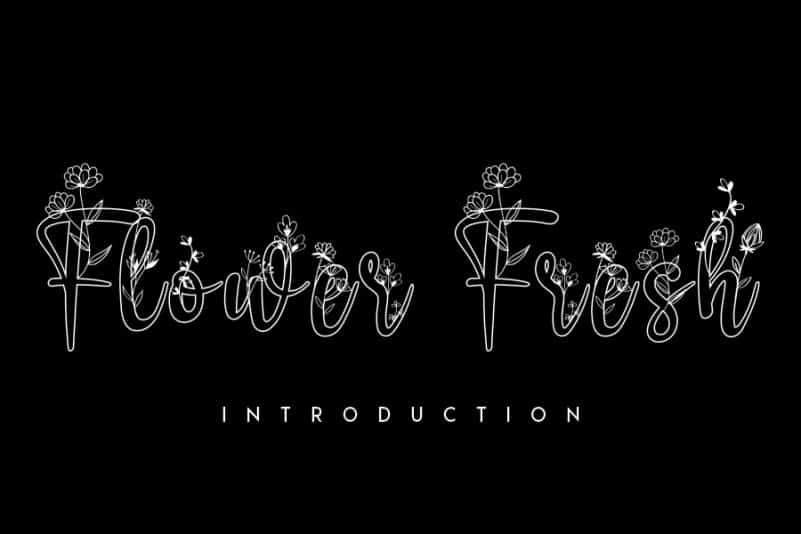 Flower Fresh Display Font