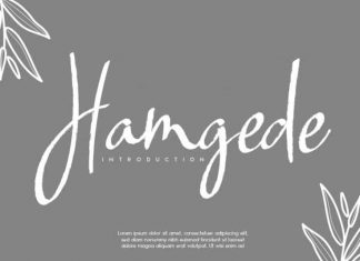 Hamgede Handwritten Font