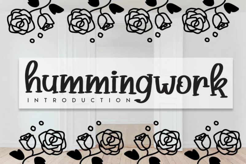 Hummingwork Script Font