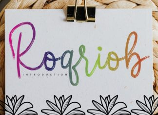 Roqriob Brush Font