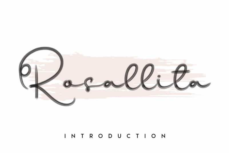 Rosallita Handwritten Font
