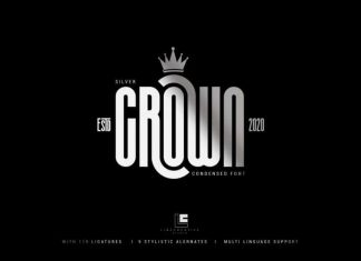Silver Crown - Condensend Font