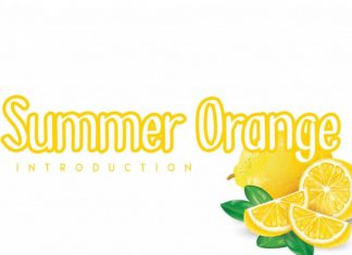 Summer Orange Display Font