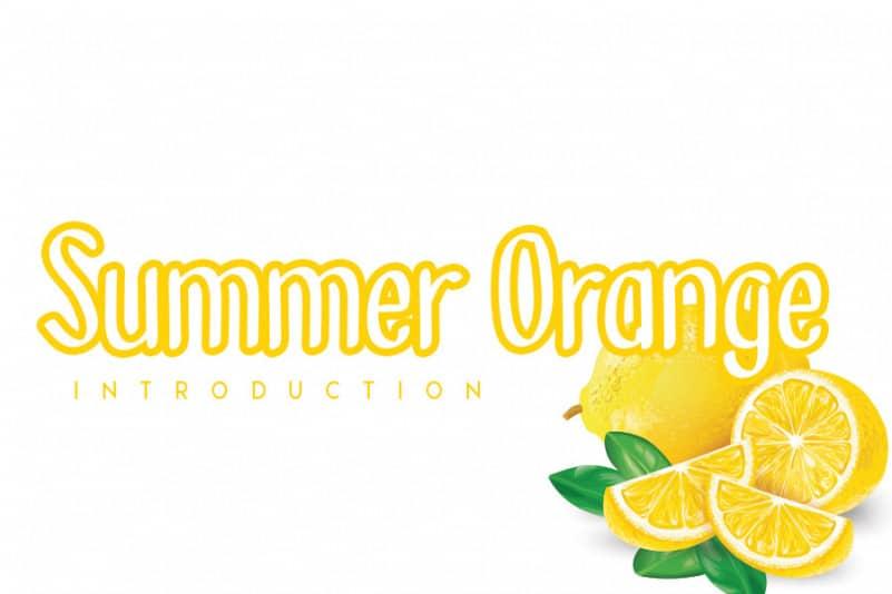 Summer Orange Display Font