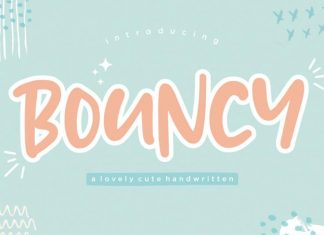 Bouncy Lovely Handwritten Font