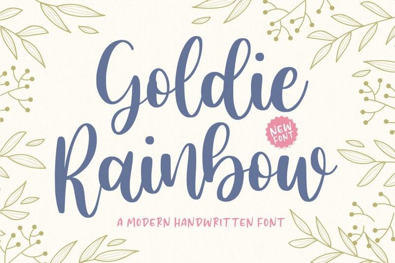 Goldie Rainbow Handwritten Font