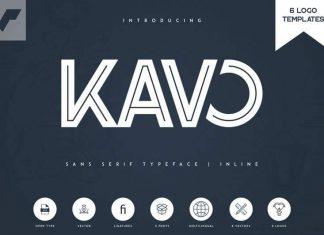 Kavo Inline Typeface