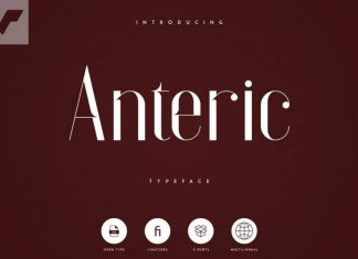 Anteric Display Typeface