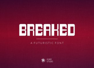 Breaked Display Font