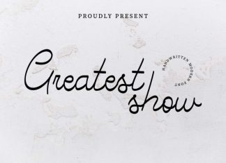 Greatest Show Handwritten Font