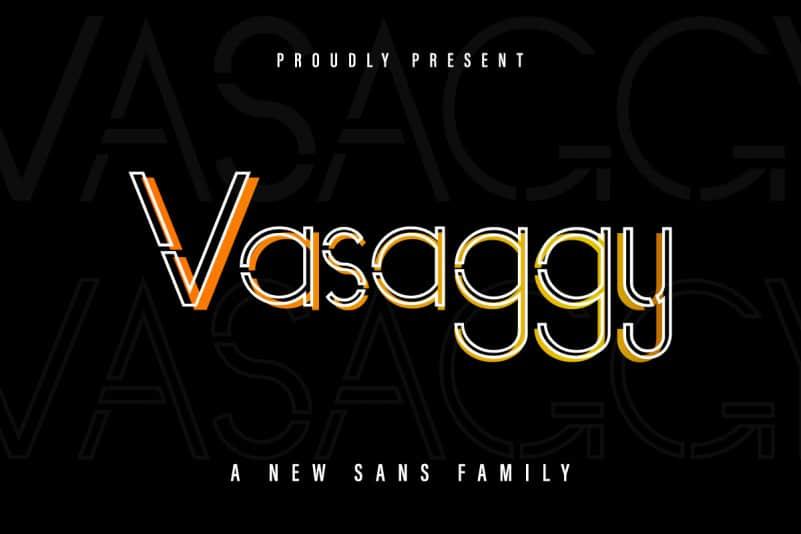 Vasaggy Sans Serif Font