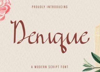 Denique Calligraphy Font