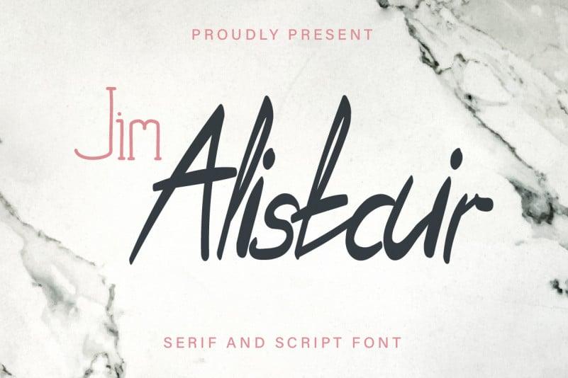 Jim Alistair Font Duo