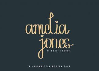 Amelia Jones Handwritten Font