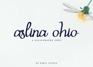 Aslina Ohio Calligraphy Font
