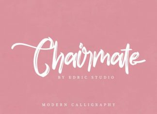 Chairmate Modern Calligraphy Font