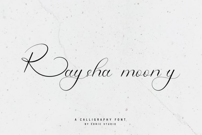 Raysha Moonly Calligraphy Font