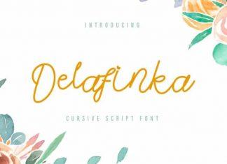Delafinka Cursive Handwritten Font