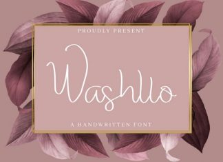 Washllo Handwritting Font