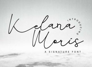 Kelana Moris Handwriting Font