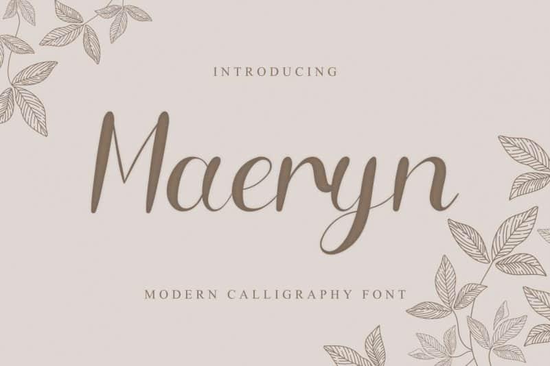 Maeryn Calligraphy Font