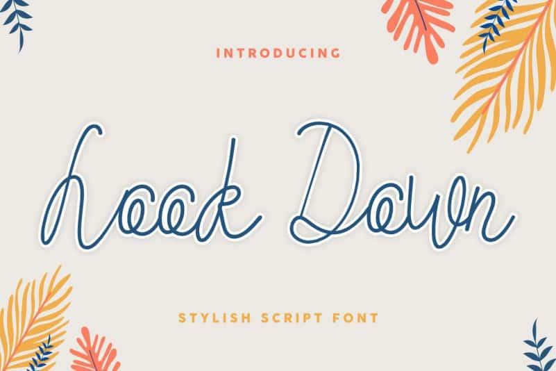Look Down Stylish Script Font