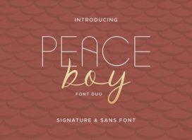 Peace Boy Font Duo