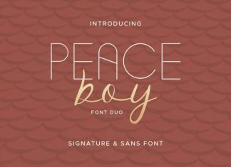Peace Boy Font Duo