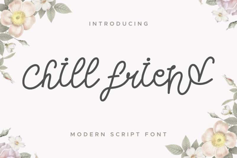 Chill Friend Modern Script Font